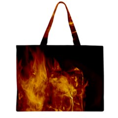 Ablaze Abstract Afire Aflame Blaze Zipper Mini Tote Bag by Amaryn4rt