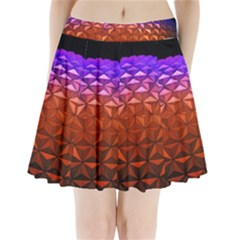 Abstract Ball Colorful Colors Pleated Mini Skirt