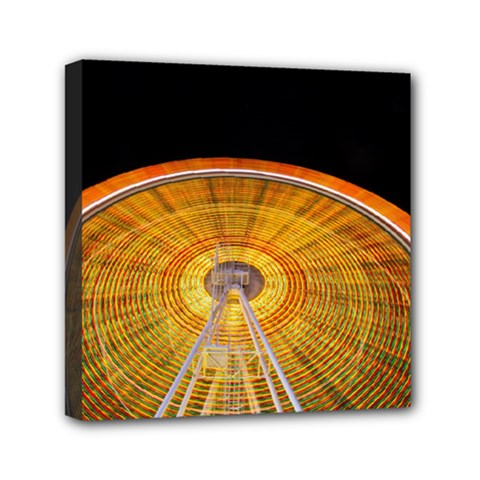 Abstract Blur Bright Circular Mini Canvas 6  X 6  by Amaryn4rt