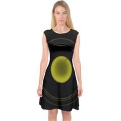 Abstract Futuristic Lights Dream Capsleeve Midi Dress by Amaryn4rt