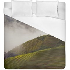 Agriculture Clouds Cropland Duvet Cover (king Size)