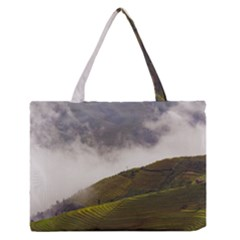Agriculture Clouds Cropland Medium Zipper Tote Bag