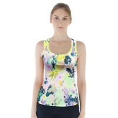Colorful paint Racer Back Sports Top by Brittlevirginclothing
