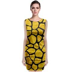 SKN1 BK-YL MARBLE Classic Sleeveless Midi Dress