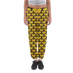Scales3 Black Marble & Yellow Marble (r) Women s Jogger Sweatpants by trendistuff