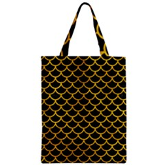 Scales1 Black Marble & Yellow Marble Zipper Classic Tote Bag by trendistuff