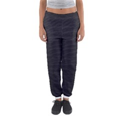 Black Pattern Sand Surface Texture Women s Jogger Sweatpants by Amaryn4rt