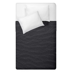 Black Pattern Sand Surface Texture Duvet Cover Double Side (Single Size) by Amaryn4rt