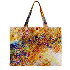 Canvas Acrylic Design Color Zipper Mini Tote Bag by Amaryn4rt