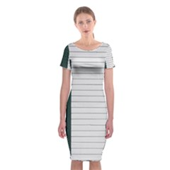 Construction Design Door Exterior Classic Short Sleeve Midi Dress by Amaryn4rt