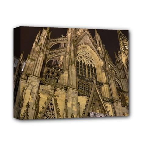 Cologne Church Evening Showplace Deluxe Canvas 14  X 11