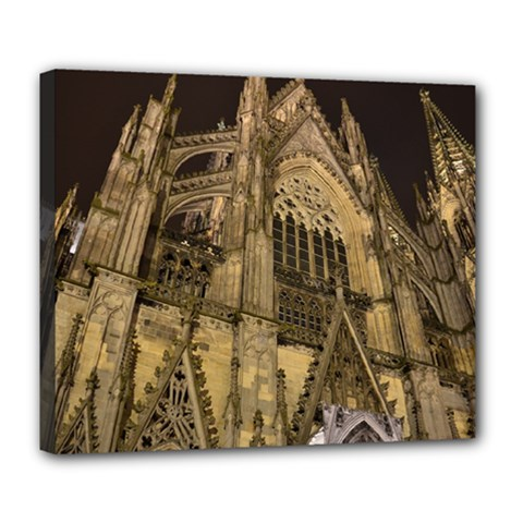 Cologne Church Evening Showplace Deluxe Canvas 24  X 20