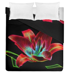 Flower Pattern Design Abstract Background Duvet Cover Double Side (queen Size) by Amaryn4rt