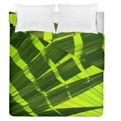 Frond Leaves Tropical Nature Plant Duvet Cover Double Side (Queen Size) by Amaryn4rt