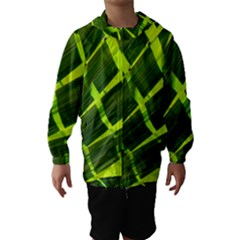 Frond Leaves Tropical Nature Plant Hooded Wind Breaker (kids)