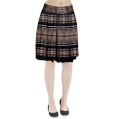 Fractal Art Design Geometry Pleated Skirt by Amaryn4rt