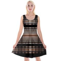 Fractal Art Design Geometry Reversible Velvet Sleeveless Dress by Amaryn4rt