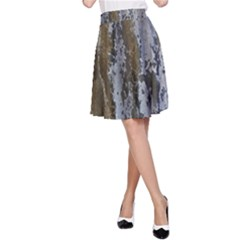 Grunge Rust Old Wall Metal Texture A Line Skirt