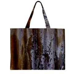 Grunge Rust Old Wall Metal Texture Zipper Mini Tote Bag by Amaryn4rt