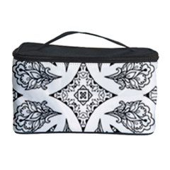Mandala Line Art Black And White Cosmetic Storage Case by Amaryn4rt