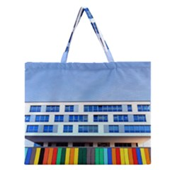 Office Building Zipper Large Tote Bag by Amaryn4rt