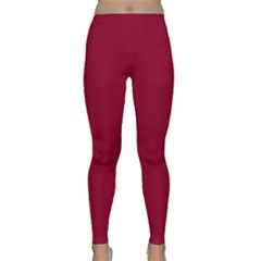 Deep red Classic Yoga Leggings by Valentinaart