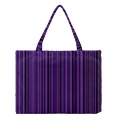 Purple Medium Tote Bag by Valentinaart