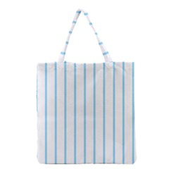 Blue Lines Grocery Tote Bag by Valentinaart