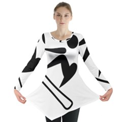 Snowboarding Pictogram  Long Sleeve Tunic  by abbeyz71