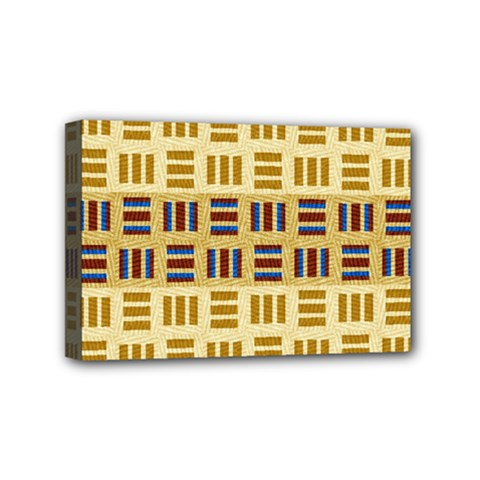 Textile Texture Fabric Material Mini Canvas 6  X 4  by Amaryn4rt