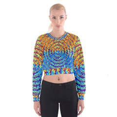 Background Color Game Pattern Women s Cropped Sweatshirt by Amaryn4rt