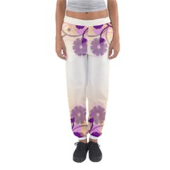 Background Floral Background Women s Jogger Sweatpants by Amaryn4rt