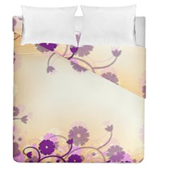Background Floral Background Duvet Cover Double Side (queen Size) by Amaryn4rt