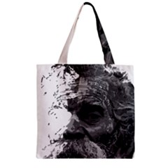 Grandfather Old Man Brush Design Zipper Grocery Tote Bag