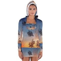 Hardest Frost Winter Cold Frozen Women s Long Sleeve Hooded T Shirt