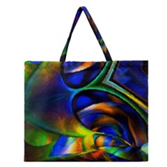 Light Texture Abstract Background Zipper Large Tote Bag by Amaryn4rt