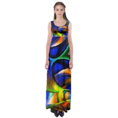 Light Texture Abstract Background Empire Waist Maxi Dress