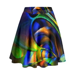 Light Texture Abstract Background High Waist Skirt by Amaryn4rt