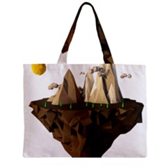 Low Poly Floating Island 3d Render Zipper Mini Tote Bag by Amaryn4rt