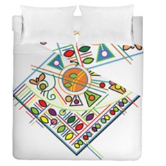 Vector Icon Symbol Sign Design Duvet Cover Double Side (Queen Size) by Amaryn4rt