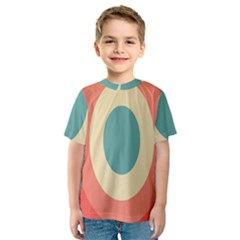 Circles Colorful Bull s Eye Kids  Sport Mesh Tee by Jojostore