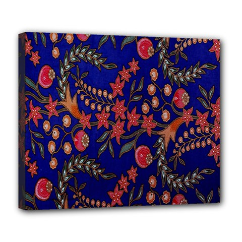 Batik Fabric Deluxe Canvas 24  X 20   by Jojostore