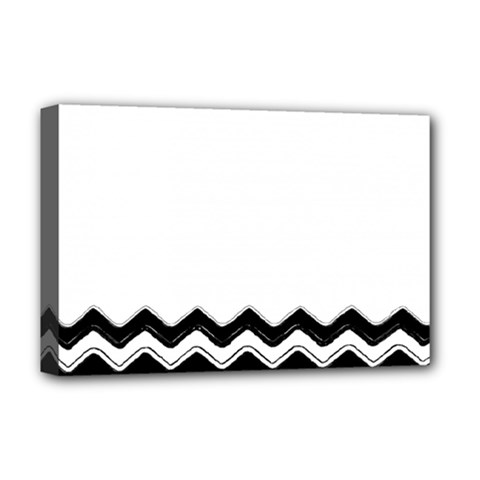 Chevrons Black Pattern Background Deluxe Canvas 18  x 12   by Nexatart