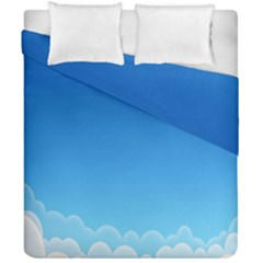 Clouds Illustration Duvet Cover Double Side (california King Size) by Jojostore
