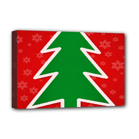 Christmas Tree Deluxe Canvas 18  X 12   by Nexatart