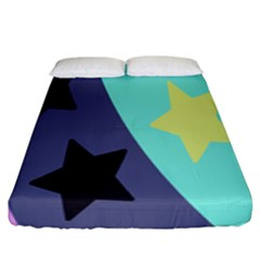 Cool Star Flag Fitted Sheet (King Size) by Jojostore
