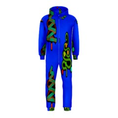Christmas Trees Hooded Jumpsuit (kids) by Nexatart