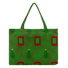 Christmas Trees And Boxes Background Medium Tote Bag by Nexatart
