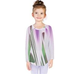 Colored Pattern Kids  Long Sleeve Tee by Nexatart