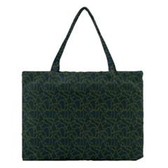 Grid Background Green Medium Tote Bag by Jojostore